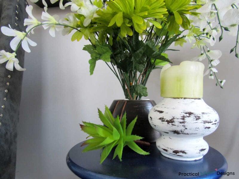 DIY Farmhouse Candlestick | Easy Upcycled Farmhouse Decor