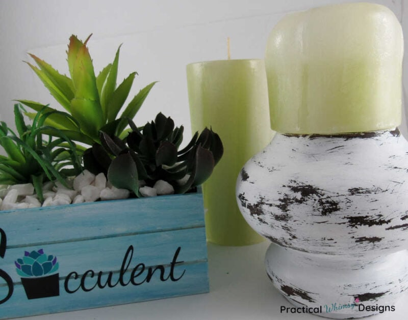 Succulent planter and candles