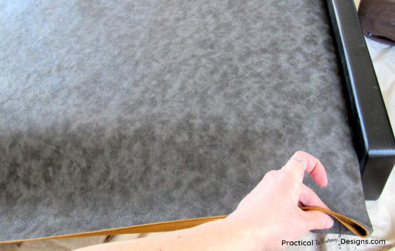 Fabric folded over to create finished edge.