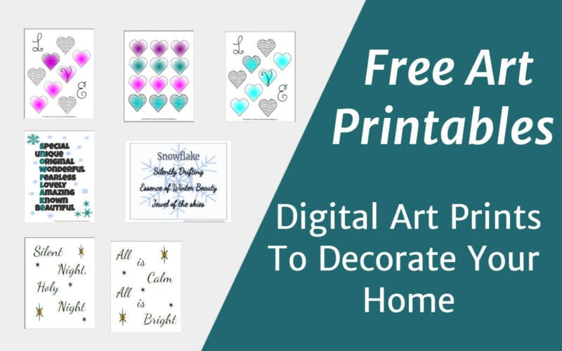 Digital art printables to decorate your home