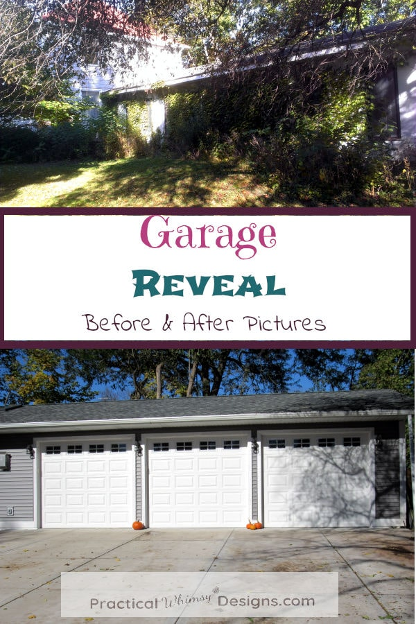 Garage reveal before and after picture