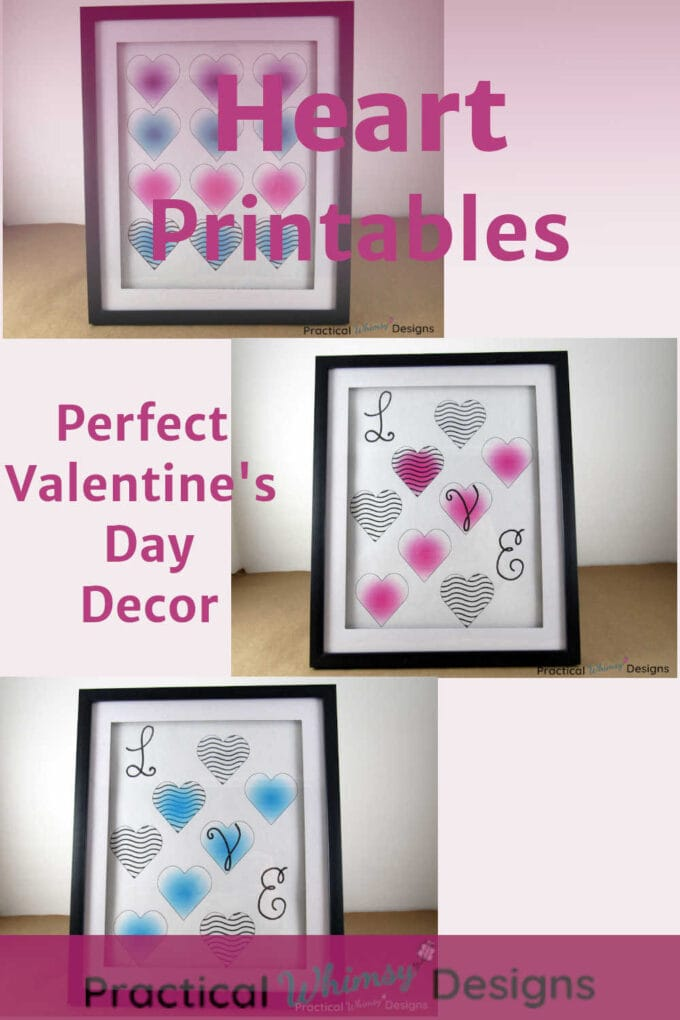 Heart printables perfect for Valentine's decor