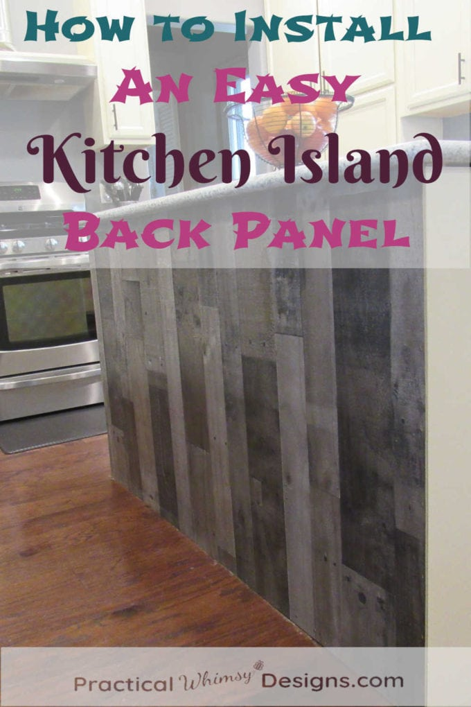 How to Install an Easy Kitchen Island Back Panel
