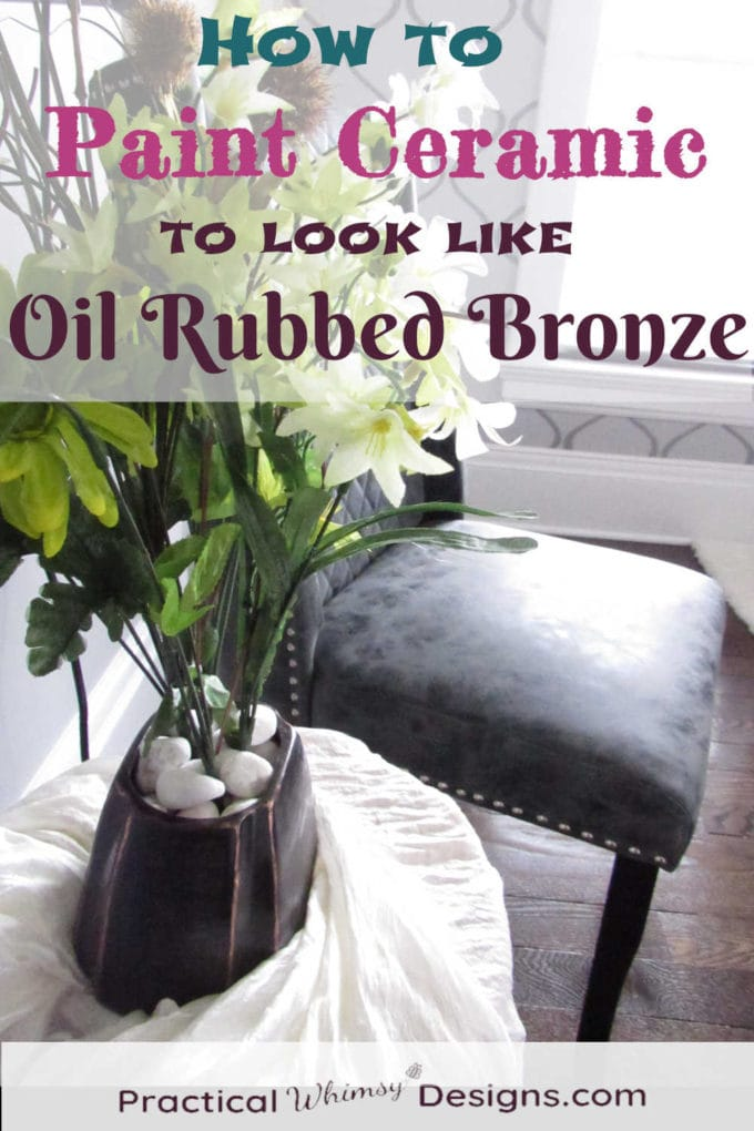 How to Paint Ceramic to look like Oil Rubbed Bronze