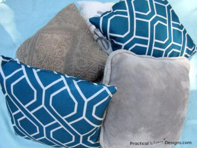 Pile of decorative pillows