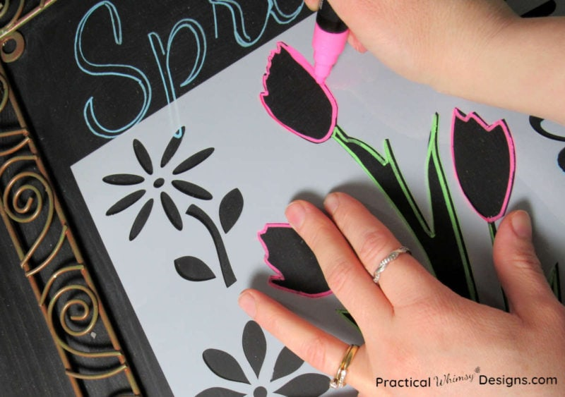 How to stencil chalkboards