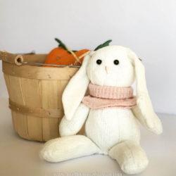 Easter bunny from socks