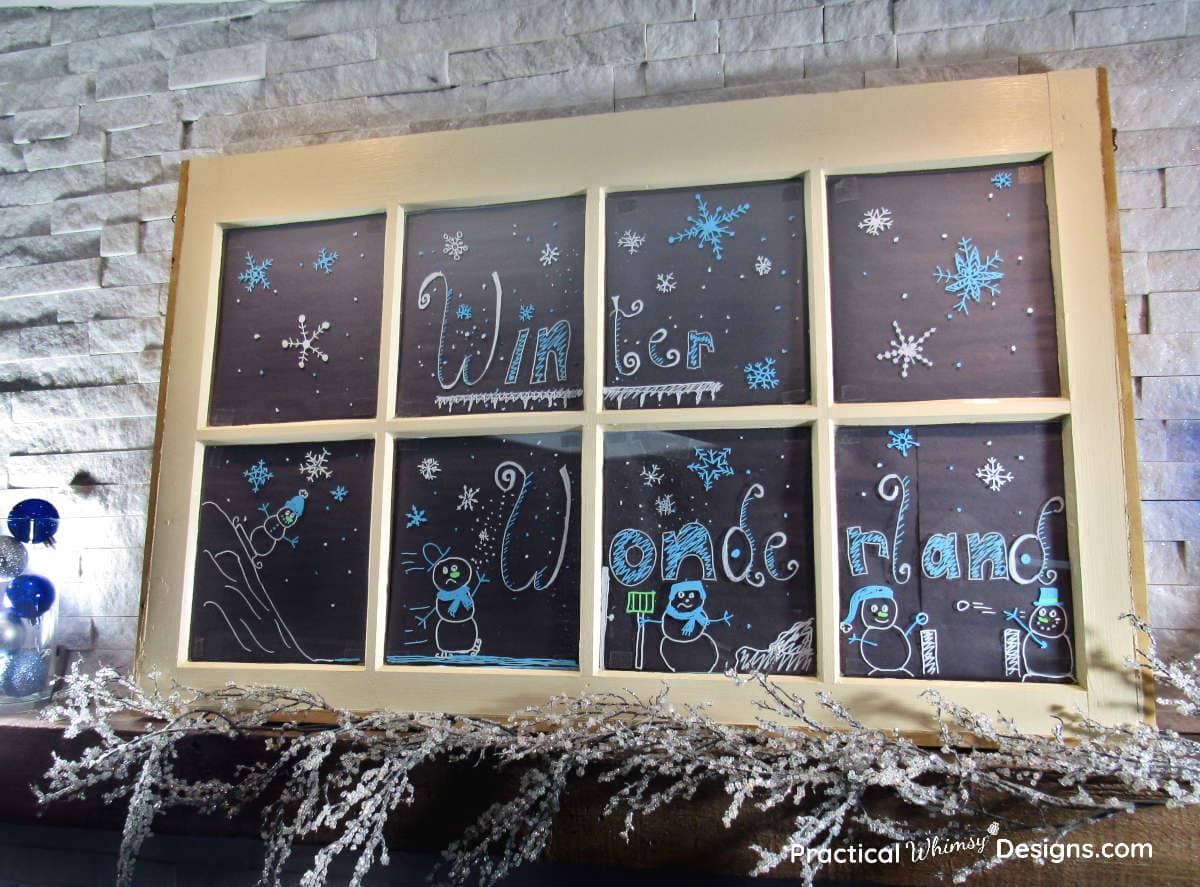 How to make a faux chalkboard