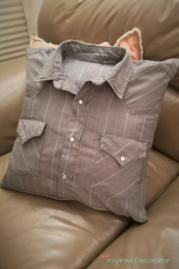 Memory pillow made from a shirt