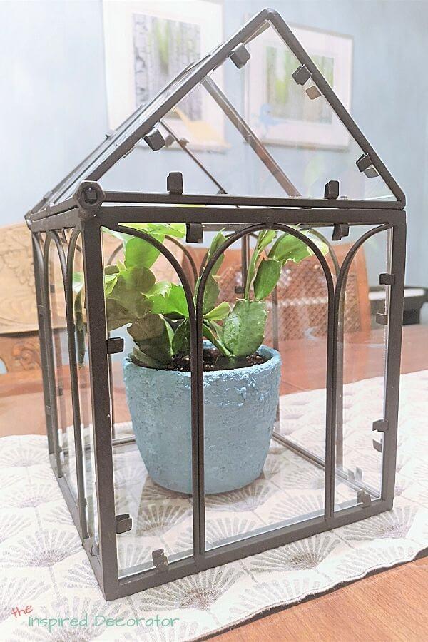 Baking soda planter in framed box