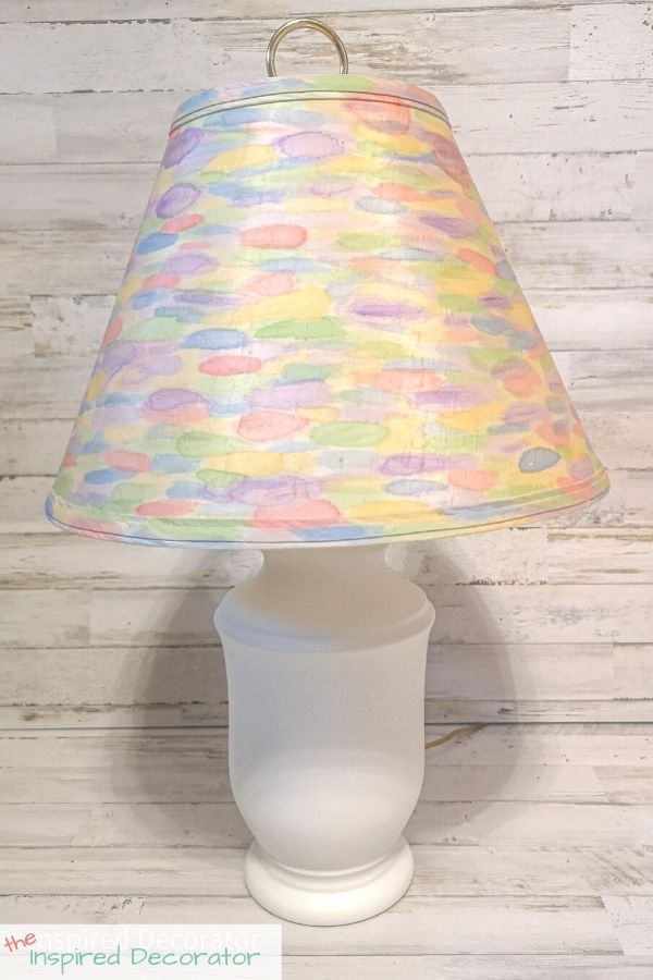 Painted lamp shade makeover