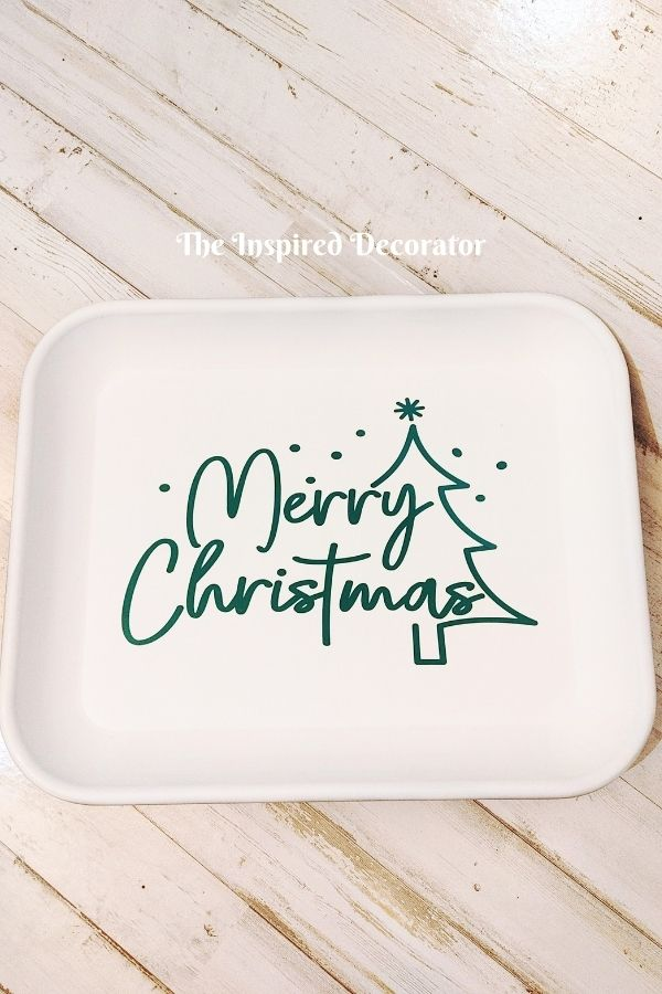 White Metal Merry Christmas sign