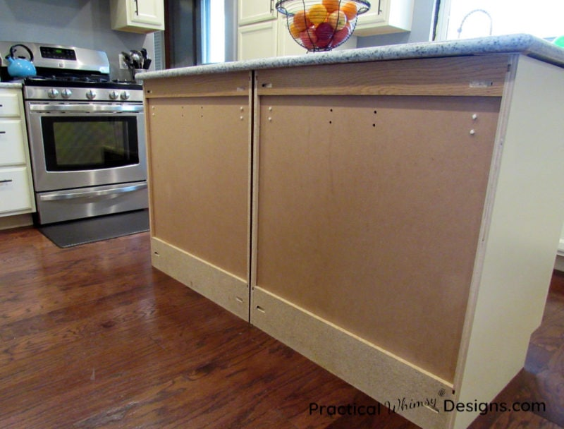 Kitchen Cabinet with no back panel