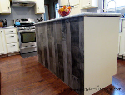 Simple Kitchen Island Back Panel