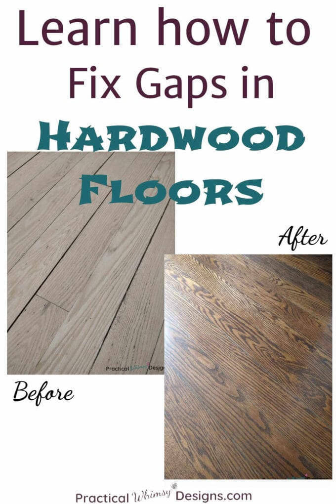 Learn how to fix gaps in hardwood flooring before and after.