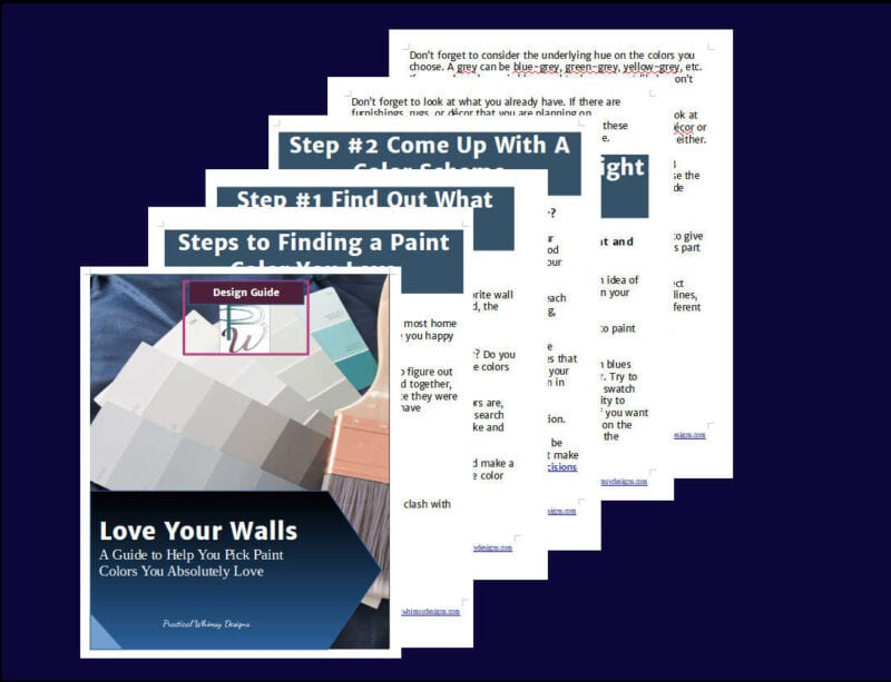 Love your walls guide to picking paint colors