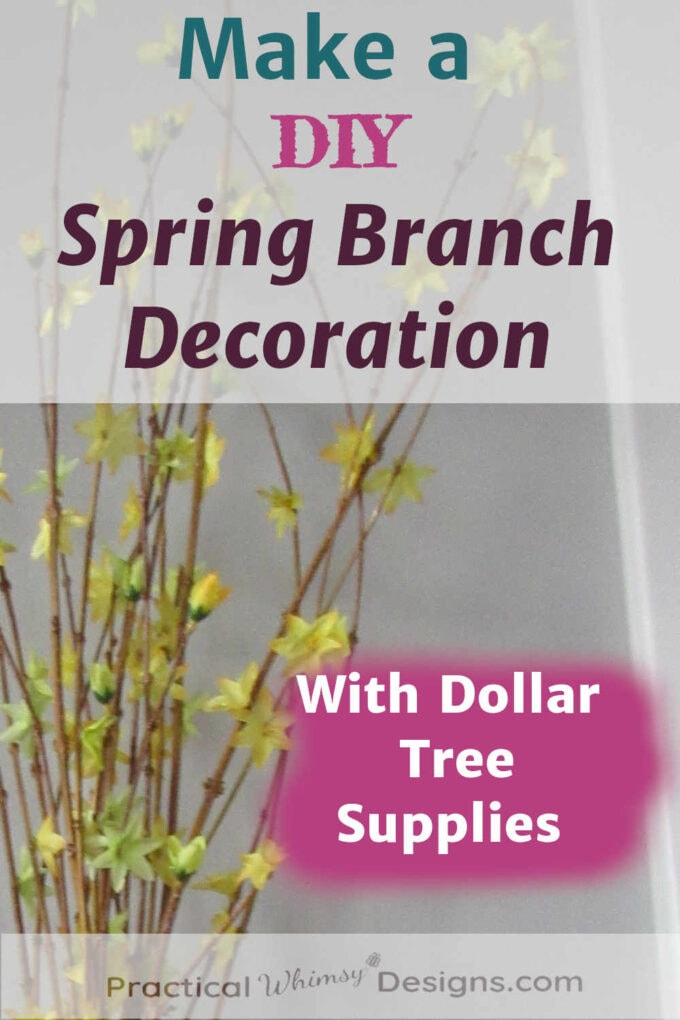 Yellow spring branch dollar tree decor
