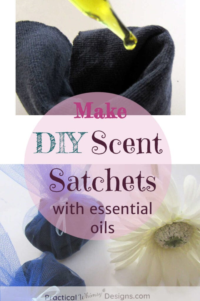DIY scent sachets with essential oil