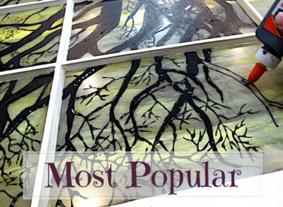 Most Popular Posts: Painting on glass with acrylic and glue