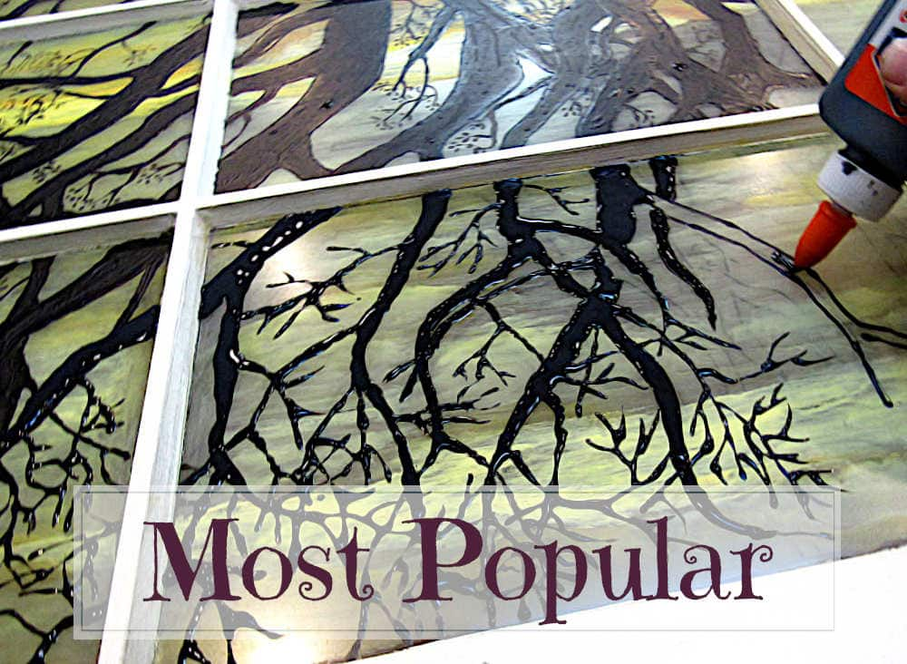 Most Popular Posts: Faux stained glass art on window