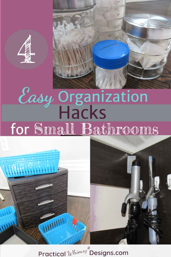 4 Organization hacks for small bathrooms: storage containers and ideas