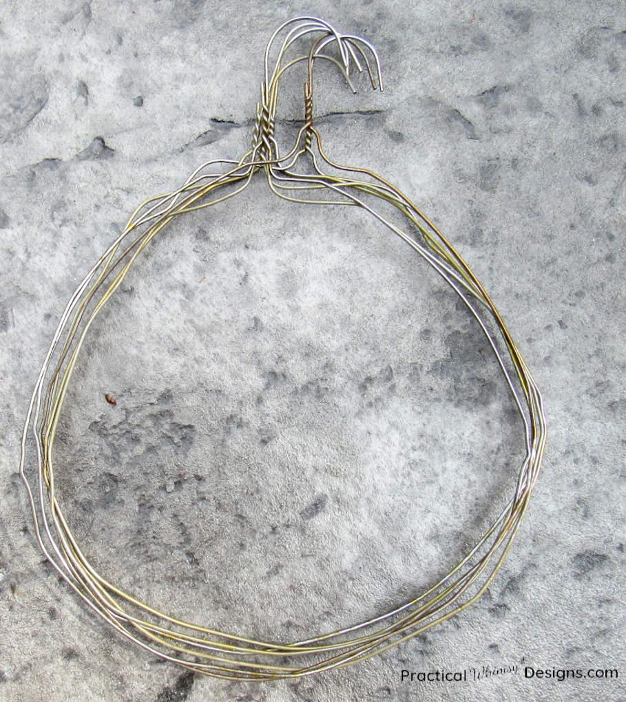 Pile of bent hangers