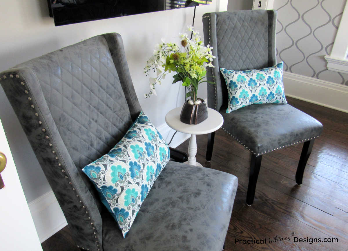 Pillows on two chairs