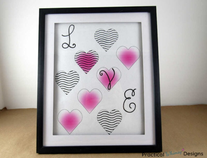 Pink Love Heart Printable for Valentines decor