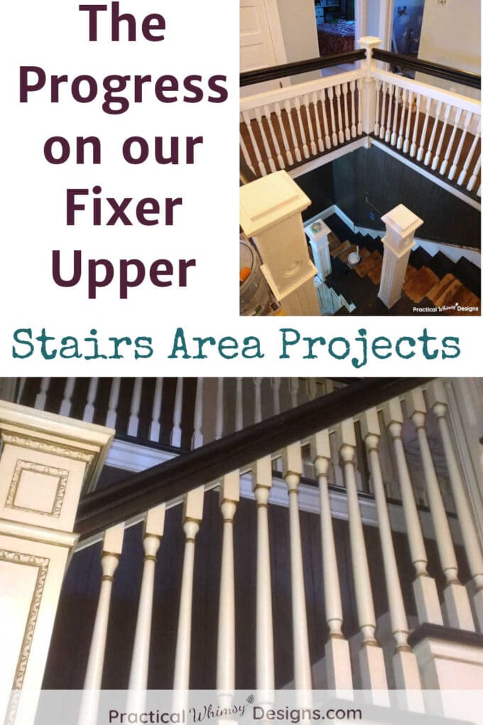 Fixer Upper stairs area: projects on our fixer upper