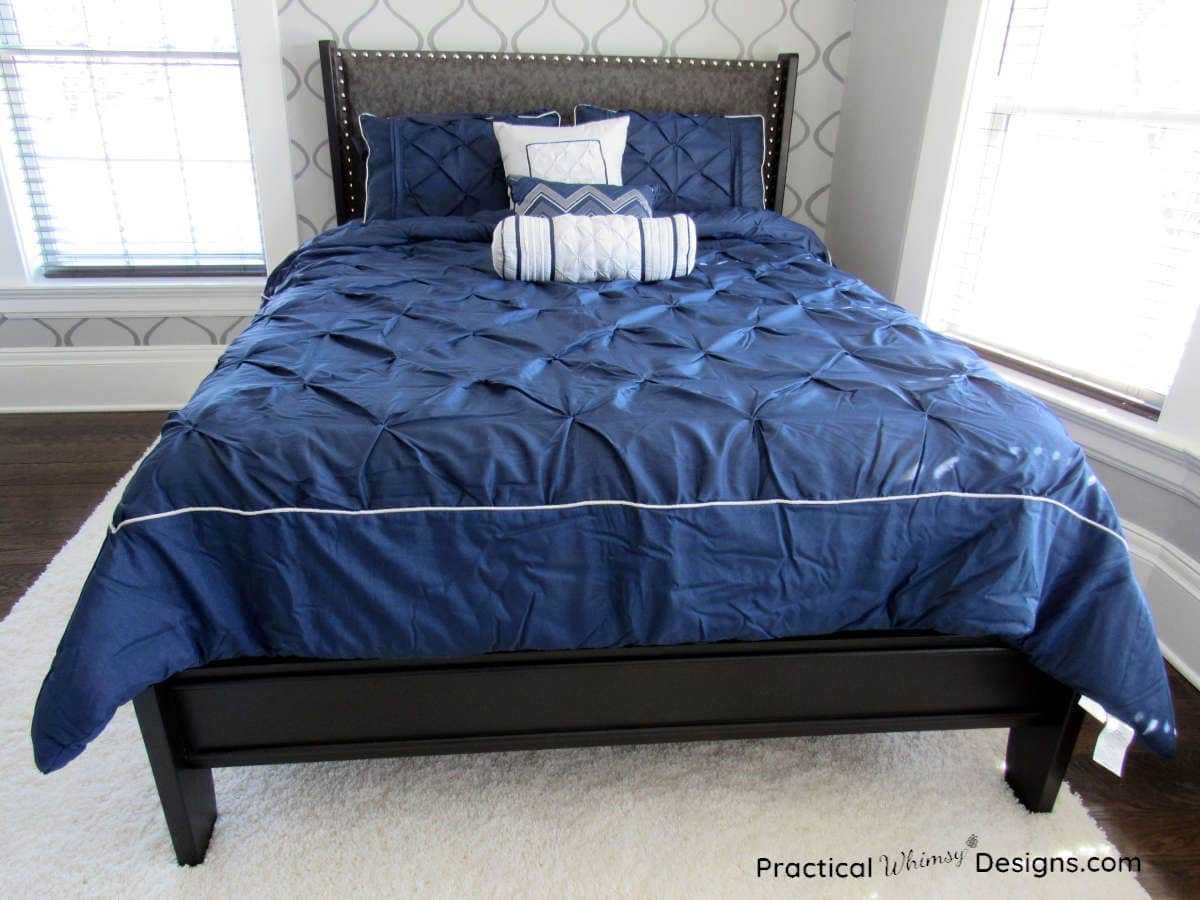 Queen sleigh bed makeover