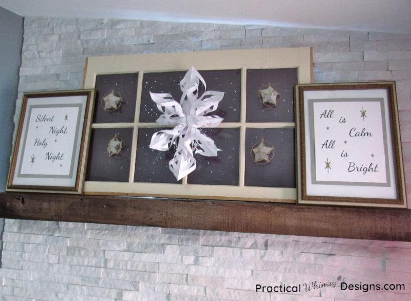 Silent night Christmas mantel display