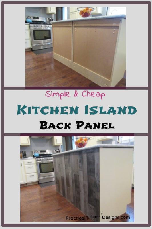 Kitchen Island Back Panel