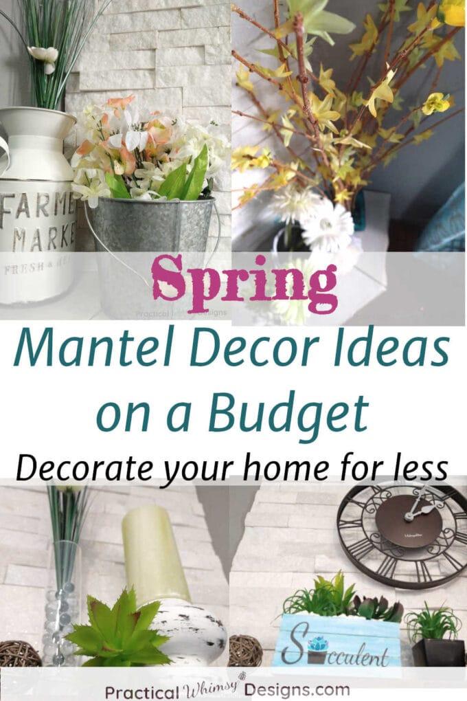 Spring mantel decor ideas collage