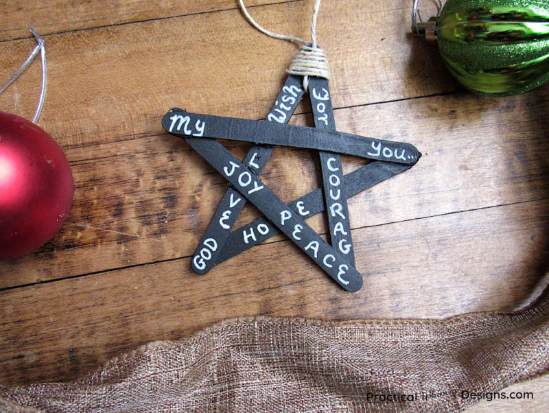 Blackboard star Christmas ornament