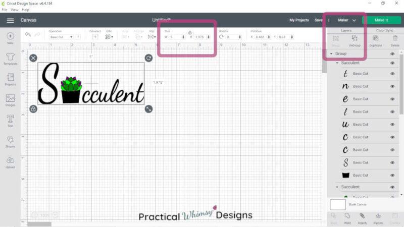 Cricut Design space succulent svg file