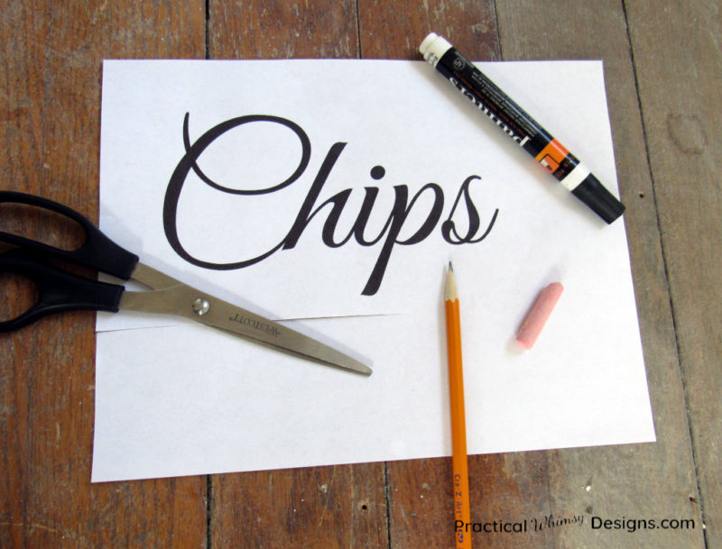 Supplies for transferring letters onto board
