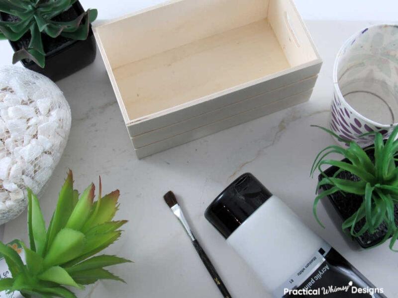 Supplies for succulent planter box