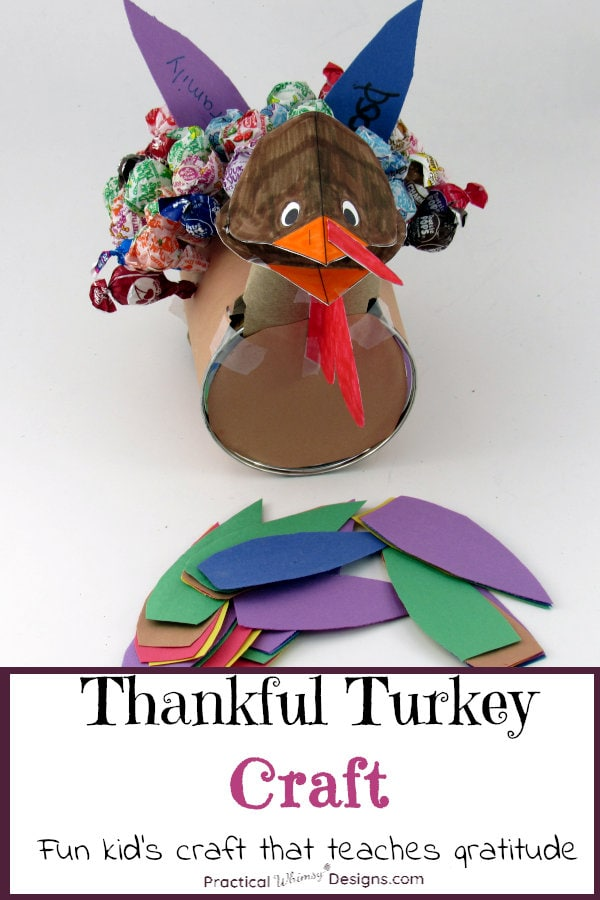 Thankful turkey craft: a fun kid's craft that teaches gratitude.