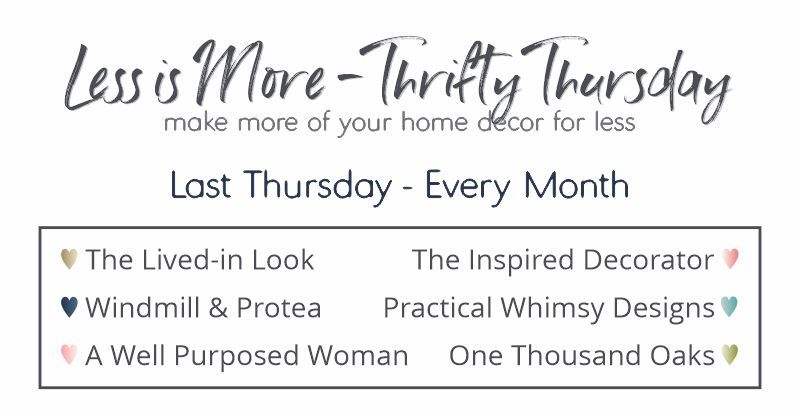 Less is More - Thrifty Thursday