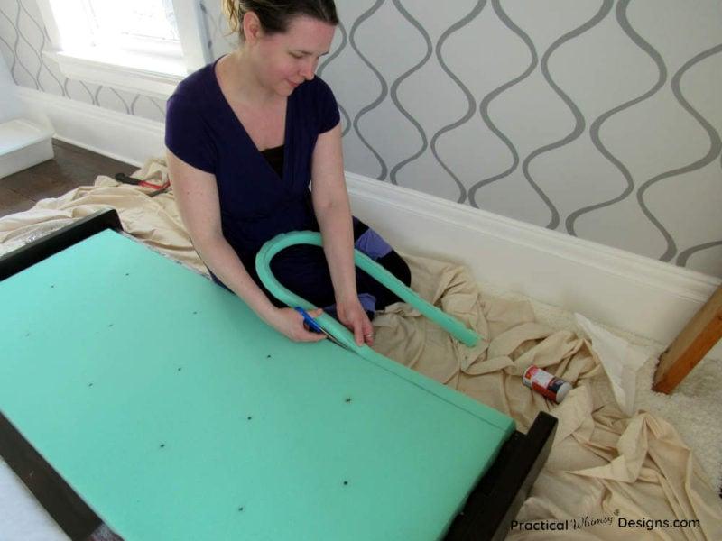Cutting foam for DIY fabric headboard
