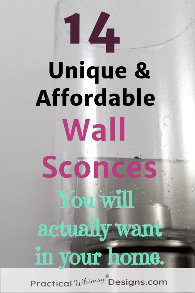 14 unique and affordable wall sconces you will actually want in your home.
