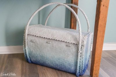 Ombre painted basket