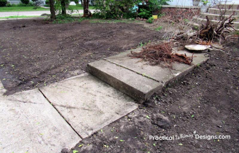 Dirt yard after bobcat excavation